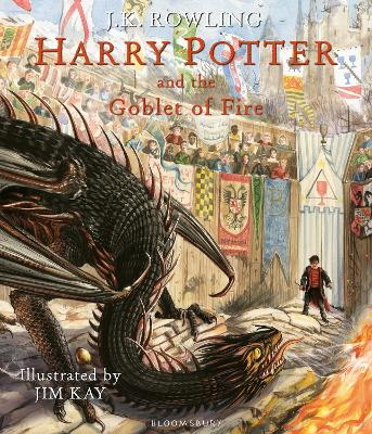 Cover for Harry Potter and the Goblet of Fire Illustrated Edition by J.K. Rowling
