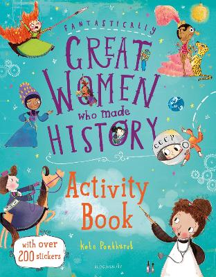 Cover for Fantastically Great Women Who Made History Activity Book by Kate Pankhurst