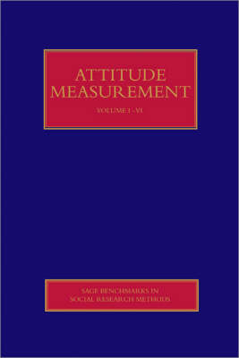 Attitude Measurement by Roger Jowell