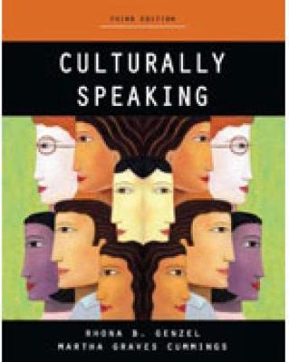 Culturally Speaking - Print on Demand by Martha Cumming, Rhona B. Genzel