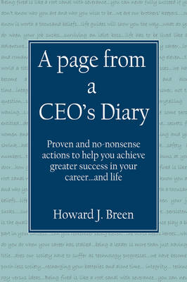 A Page from a CEO's Diary by Howard Breen