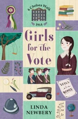 Cover for Girls for the Vote by Linda Newbery