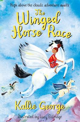 Cover for The Winged Horse Race by Kallie George