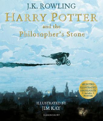 Cover for Harry Potter and the Philosopher's Stone Illustrated Edition by J. K. Rowling