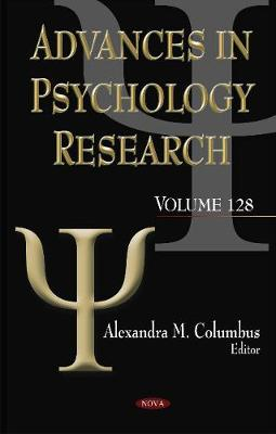 Advances in Psychology Research by Alexandra M. Columbus