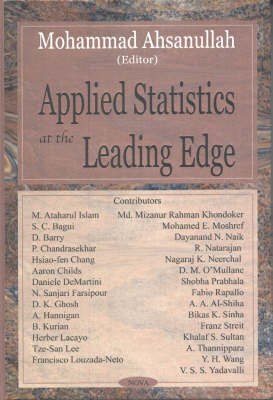 Applied Statistics at the Leading Edge by Mohammad Ahsanullah