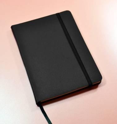 Monsieur Notebook Leather Journal - Black Ruled Large A5 by Monsieur