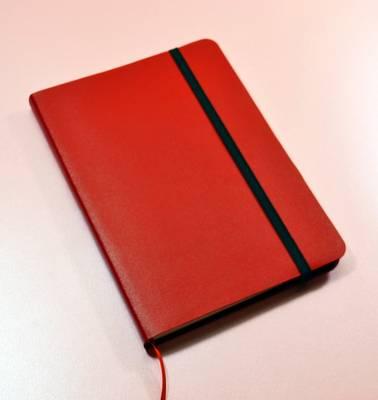 Monsieur Notebook Leather Journal - Red Ruled Medium A5 by Monsieur