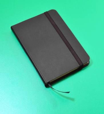 Monsieur Notebook Leather Journal - Black Sketch Small A6 by Monsieur