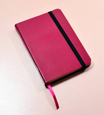 Monsieur Notebook Leather Journal - Pink Ruled Small A6 by Monsieur