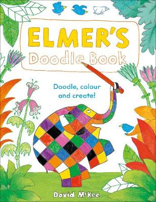 Cover for Elmer's Doodle Book  by David McKee