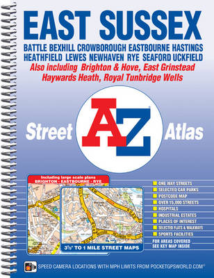 East Sussex Street Atlas by Geographers' A-Z Map Company