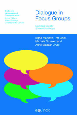 Dialogue in Focus Groups Exploring Socially Shared Knowledge by Ivana Markova, Per Linell, Michele Grossen
