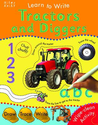 Learn To Write With Tractors and Diggers by Belinda Gallagher