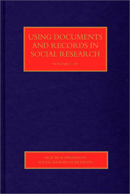 Using Documents and Records in Social Research by Lindsay Prior