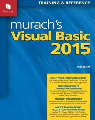 Murachs Visual Basic 2015 by Anne Boehm