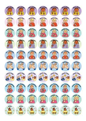 Let's Sign BSL Merit Stickers by Cath Smith