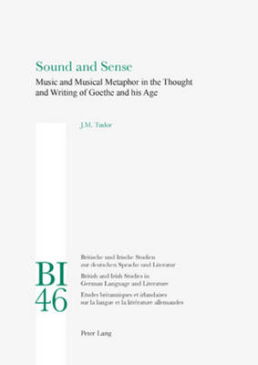 Sound and Sense Music and Musical Metaphor in the Thought and Writing of Goethe and his Age by Josephine Tudor