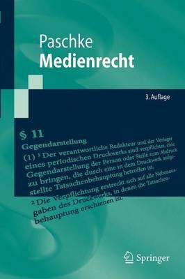 Medienrecht by Marian Paschke