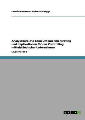 Analysebereiche Beim Unternehmensrating Und Implikationen Fur Das Controlling Mittelstandischer Unternehmen by Dennis Hinzmann