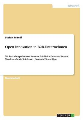 Open Innovation in B2B-Unternehmen by Stefan Prandl