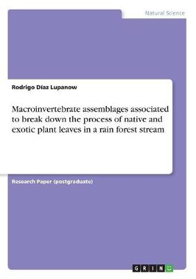 Macroinvertebrate Assemblages Associated to Break Down the Process of Native and Exotic Plant Leaves in a Rain Forest Stream by Rodrigo Diaz Lupanow