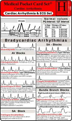 Cardiac Arrhythmia and ECG - Medical Pocket Card Set by Verlag Hawelka