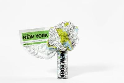 New York Crumpled City Map by Emanuele Pizzolorusso