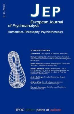 JEP European Journal of Psychoanalysis 31 by Sergio Benvenuto