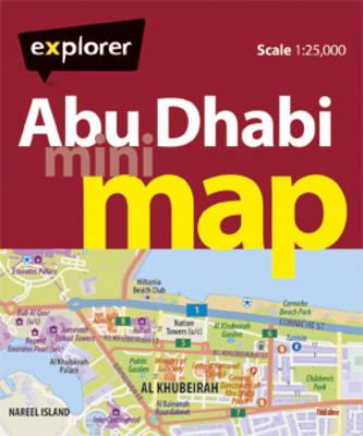 Abu Dhabi Mini Map AUH_MMP_4 by Explorer Publishing and Distribution