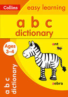 ABC Dictionary Ages 3-4 by Collins Easy Learning