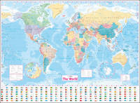 Collins World Wall Laminated Map [New Edition] by Collins Maps