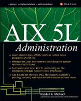 AIX 5L Administration by Randal K. Michael