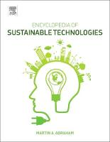 Encyclopedia of Sustainable Technologies by Martin (Youngstown State University, Youngstown, Ohio, USA) Abraham