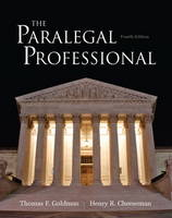 The Paralegal Professional by Thomas F. Goldman, Henry R. Cheeseman