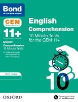 BOND 11+: CEM English Comprehension 10 Minute Tests: 10-11 Years by Christine Jenkins