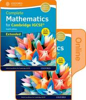 Complete Mathematics for Cambridge IGCSE (R) Online & Print Student Book Pack (Extended) by David Rayner
