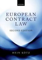 European Contract Law by Hein Kotz