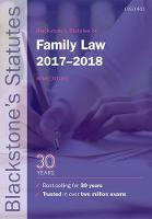 Blackstone's Statutes on Family Law 2017-2018 by Dr. Mika (Fellow of Jesus College, University of Cambridge) Oldham
