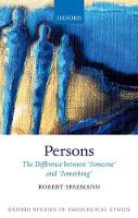 Persons The Difference between `Someone' and `Something' by Robert (Emeritus Professor, University of Munich; Honorary Professor, University of Salzburg) Spaemann