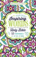 NIV Inspiring Words Holy Bible, Hardcover 52 Verses to Color by Zondervan