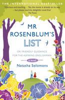 Cover for Mr Rosenblum's List: Or Friendly Guidance for the Aspiring Englishman by Natasha Solomons