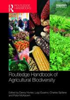 Routledge Handbook of Agricultural Biodiversity by Danny Hunter