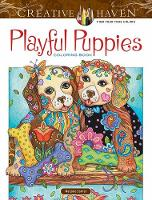 Creative Haven Playful Puppies Coloring Book (working title) by Marjorie Sarnat