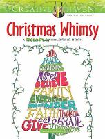 Creative Haven Christmas Whimsy A WordPlay Coloring Book by Jessica Mazurkiewicz