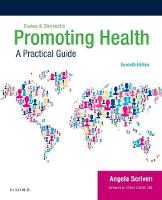 Ewles & Simnett's Promoting Health A Practical Guide by Angela Scriven