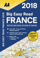 AA Big Easy Read Atlas France by AA Publishing