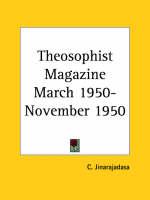 Theosophist Magazine (March 1950-November 1950) by C. Jinarajadasa