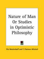 Nature of Man or Studies in Optimistic Philosophy (1910) by Elie Metchnikoff