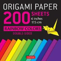 Origami Paper 200 Sheets Rainbow Colors by Tuttle Publishing